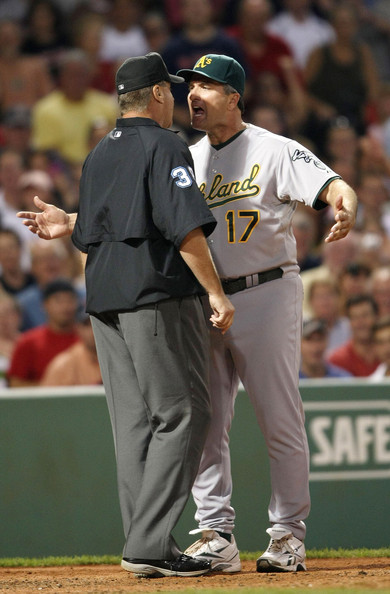 Bob Geren Arguing with an umpire.jpg