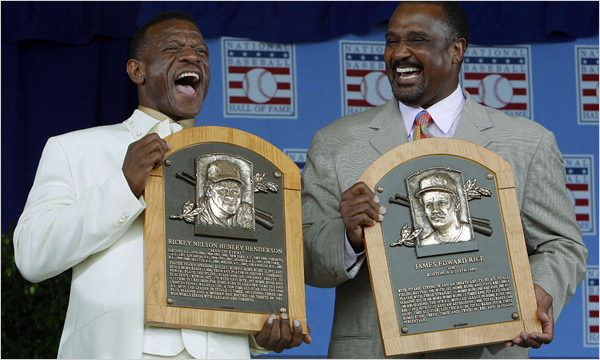 Rickey and Jim Rice with plaques.jpg