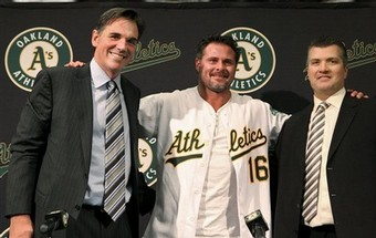 Beane, Giambi and Geren - 1-7-09.jpg